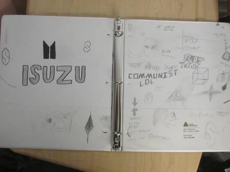 My binder from High School