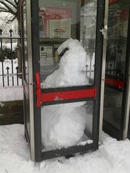Snowman On A PayPhone