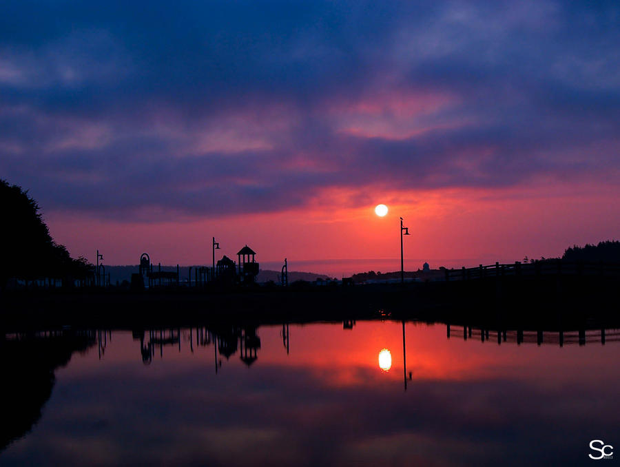 Sunrise city park by ShannonCPhotography