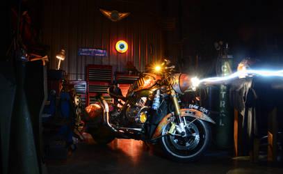 2011 BMW S1000RR light paint