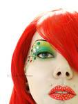 red n green glitter machine