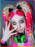 . rainbow make-up .