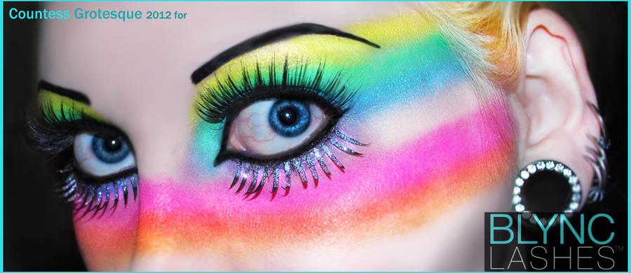 . rainbow club makeup . by Countess-Grotesque
