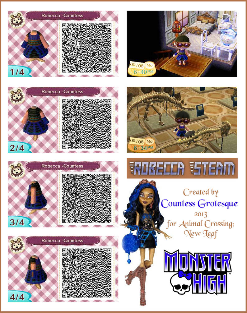 Black dress qr code - Robecca Steam Outfit For Animal Crossing By Countess Grotesque