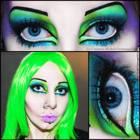 . purple and green queen . by Countess-Grotesque