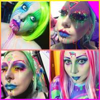 Recent uv space makeup by Countess-Grotesque