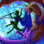 Dragon Time VS Chronometron [COMMISSION]