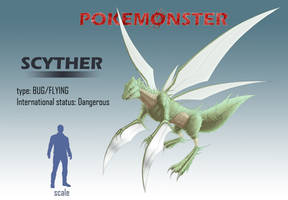 Pokemonster - Scyther by MissMagnificent