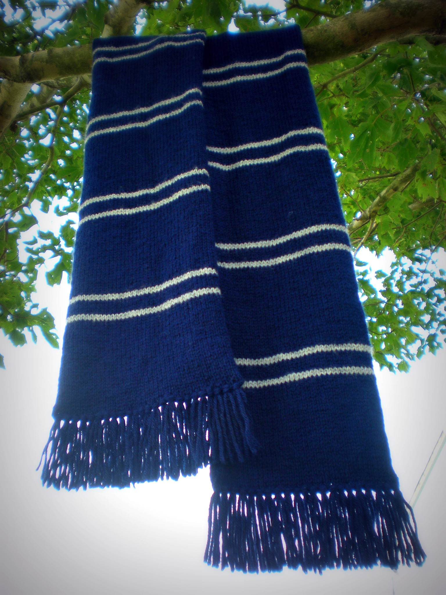 Knit Harry Potter Scarf Pattern : Ravenclaw Scarf by TheSuzieBlue on DeviantArt