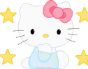 Hello Kitty Pixel Stars by EvelynRegly