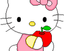 Hello Kitty Apple by EvelynRegly