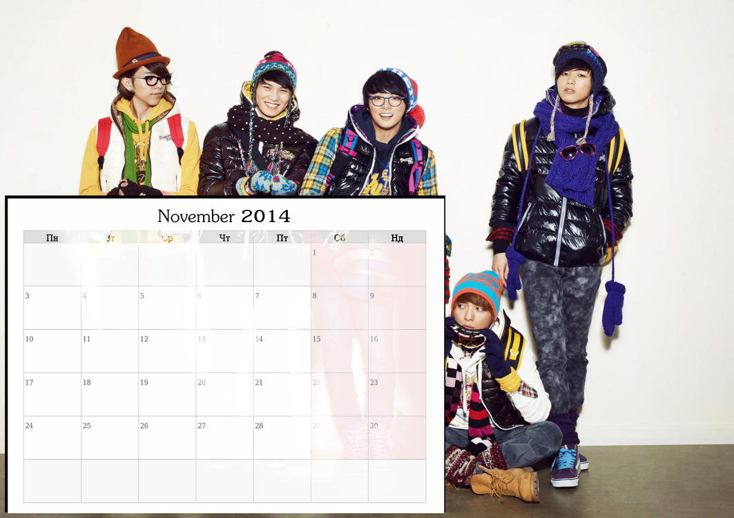 November 2014 Calendar Wallpaper by WaffleDiva02