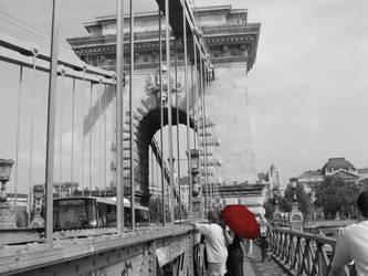 fata cu umbrela rosie by Norisor