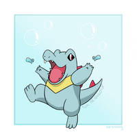 Totodile by tardissing