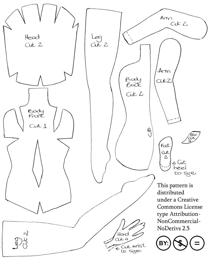 Felt Fairy Doll - pattern