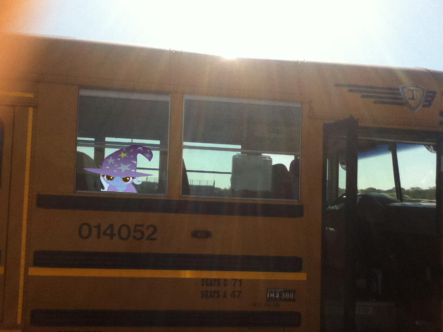 The Great and powerful Trixie is on my school bus  by MetalGriffen69. The Great and powerful Trixie is on my school bus  by