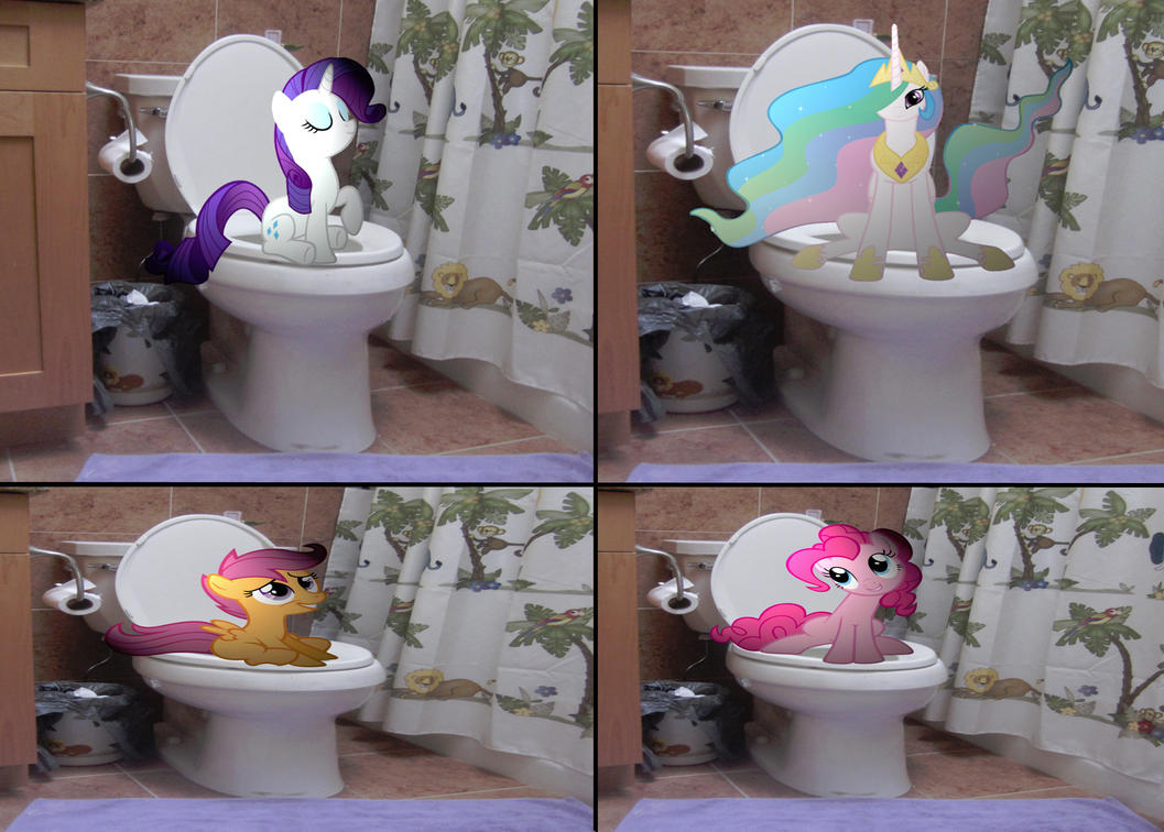 ponies on the pottymetalgriffen69 on deviantart