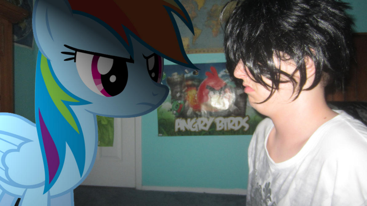 Staring contest with Rainbow Dash by MetalGriffen69. Staring contest with Rainbow Dash by MetalGriffen69 on DeviantArt