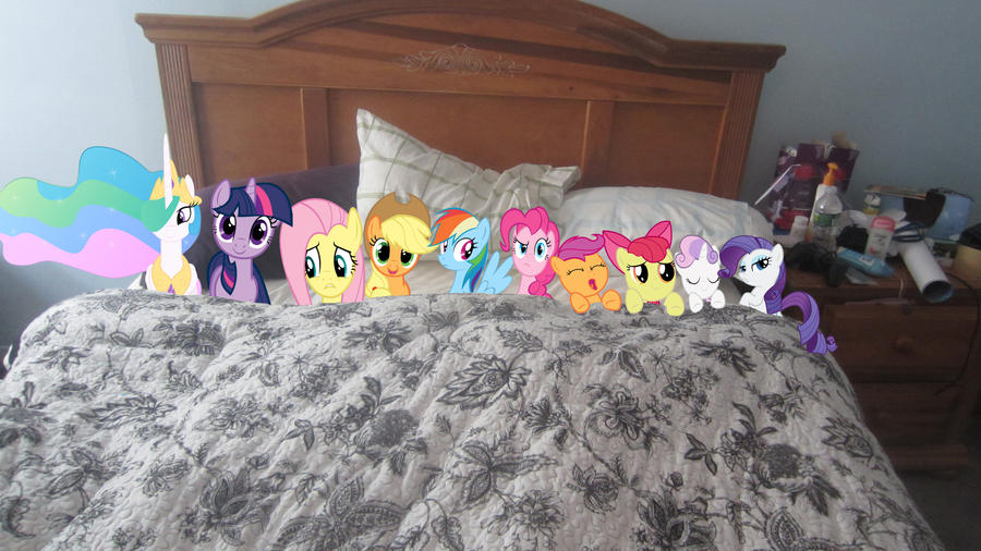 Ten ponies in the bed by MetalGriffen69