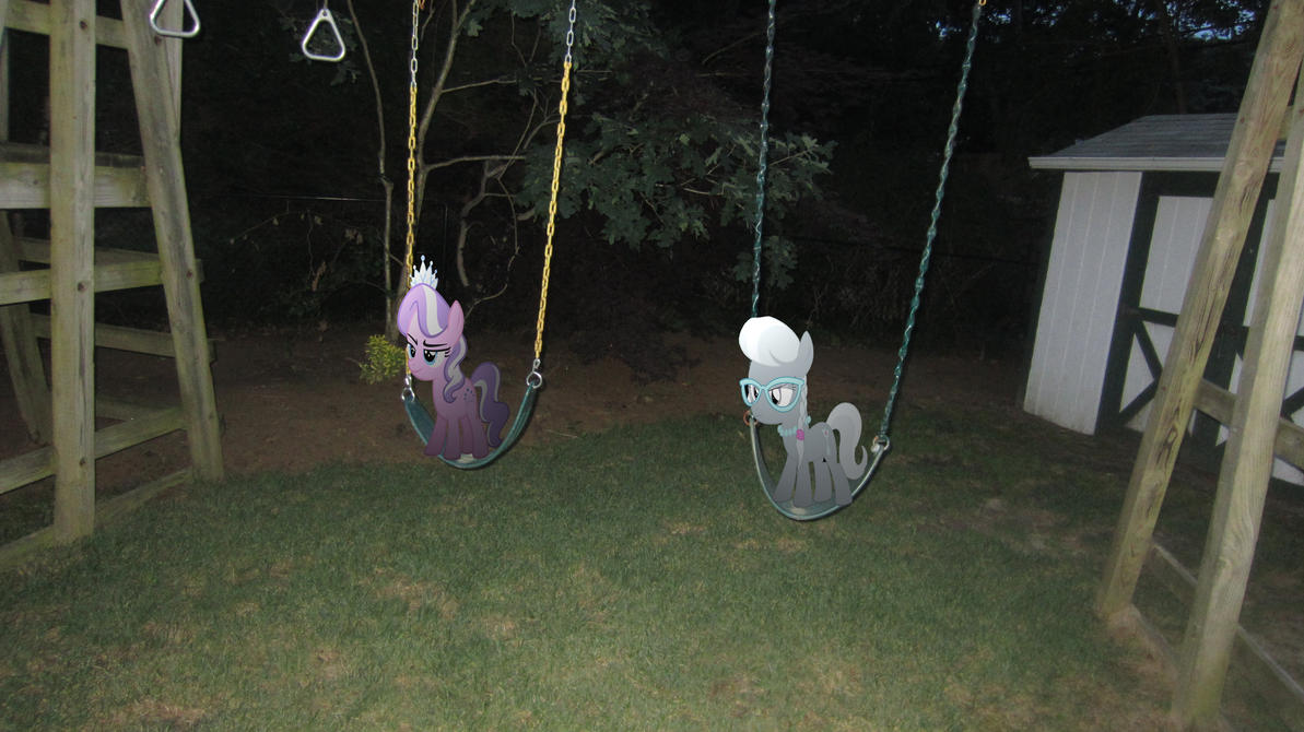 Diamond and Silver on the swings by MetalGriffen69. Diamond and Silver on the swings by MetalGriffen69 on DeviantArt