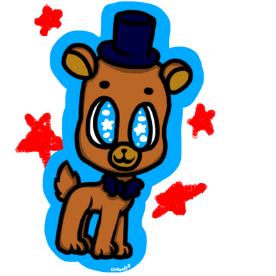 how to draw cute freddy fazbear