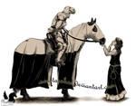 A knight and maiden by Tarakas
