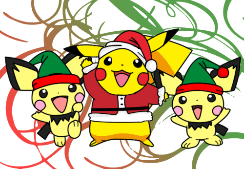PikaPichu Christmas Card by lawlilove