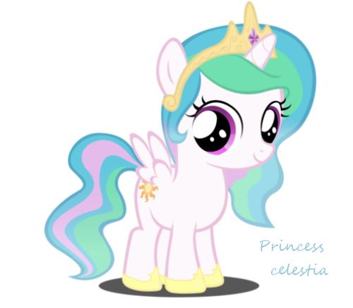 Baby Princess Celestia Coloring Page