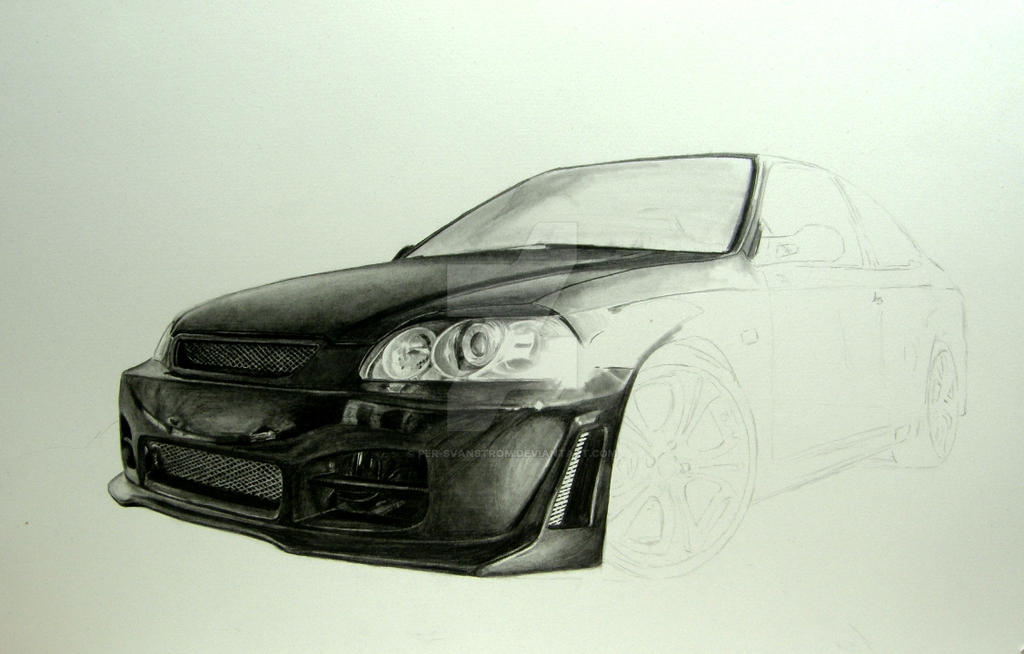 Drawing A Honda Civic Step By Per Svanstrom D Qt V