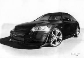 Honda Civic drawing