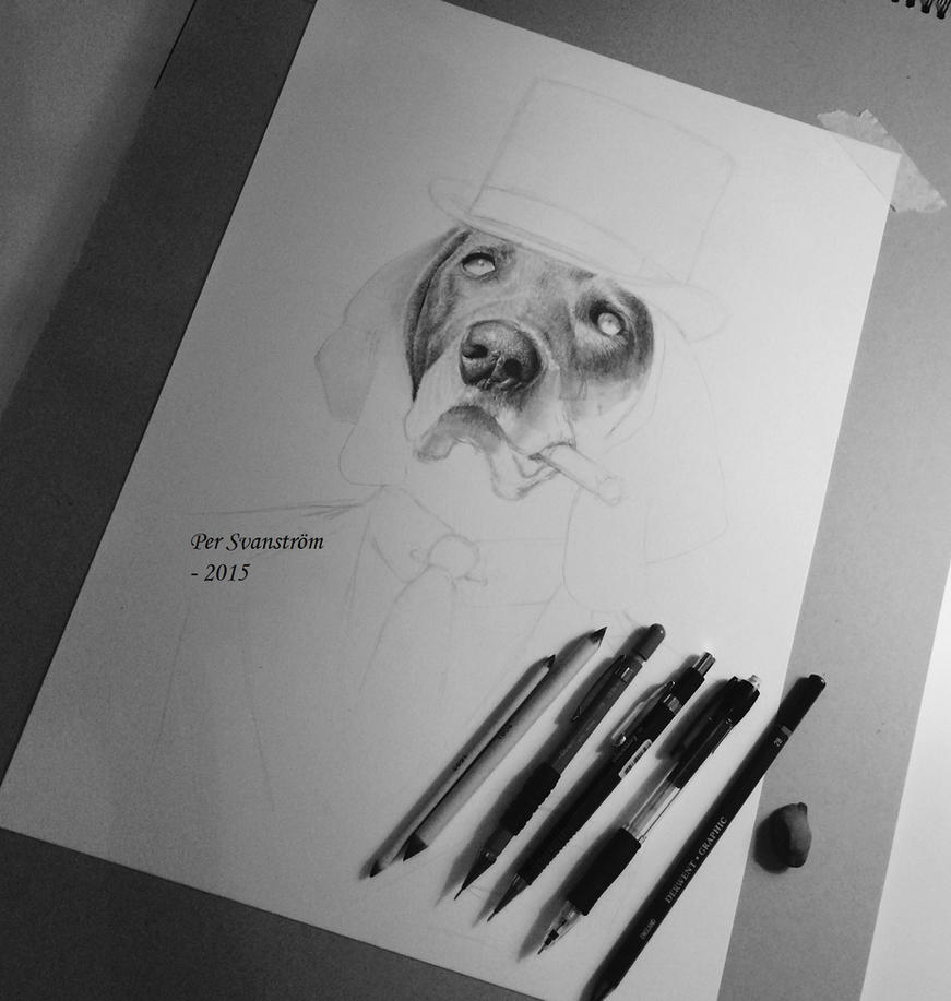 WIP - Dog with cigar step1 by Per-Svanstrom