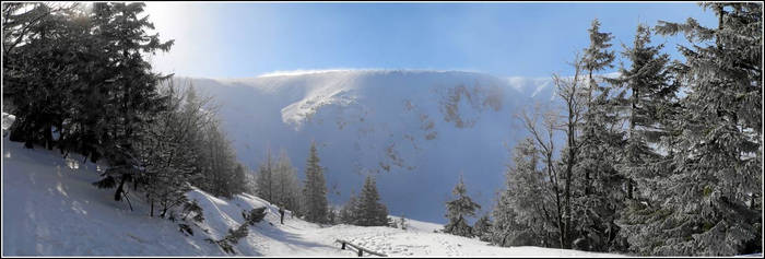 Small Lake kettle winter pano
