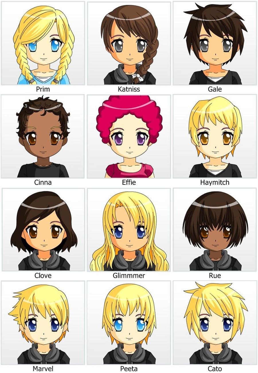Hunger Games Character Chibi by xGrangerChaseKanex on DeviantArt