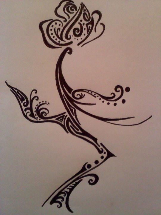 Flower tattoos a single rose flower tattoo for Single flower tattoo