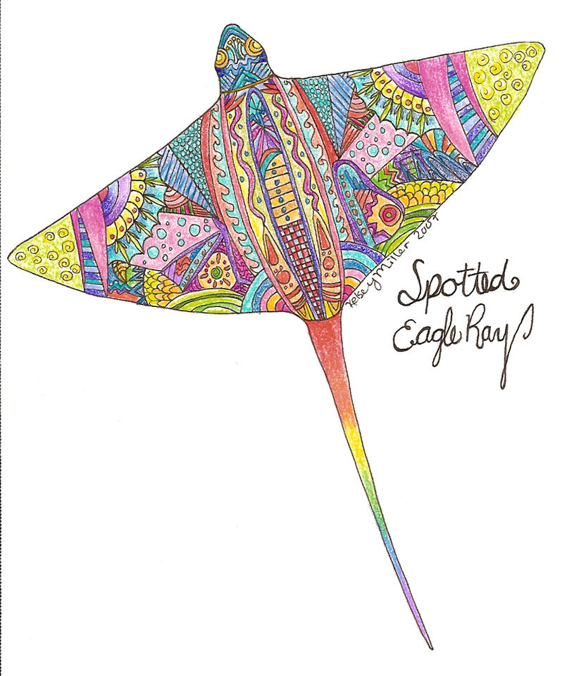 Abstract Spotted Eagle Ray. By Raseri On DeviantArt