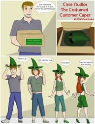Customer Costume Caper 01 by MissCirce