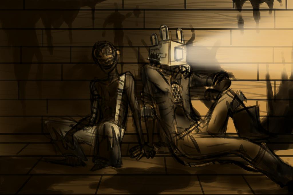 Two Inky Dorks Sittting in the Dark Together by Goshawk-Gyrefalcon