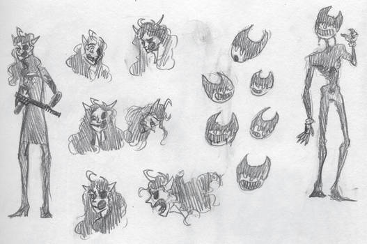 inky fremies sketches