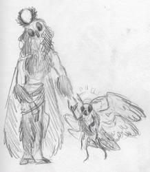 Angel Moth and Moth Angel