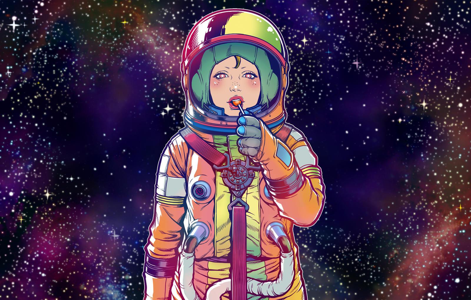 Galaxy lollipop candy by motoichi69