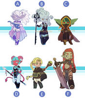 DnD Fantasy Adopts [CLOSED] by mai-anjelle