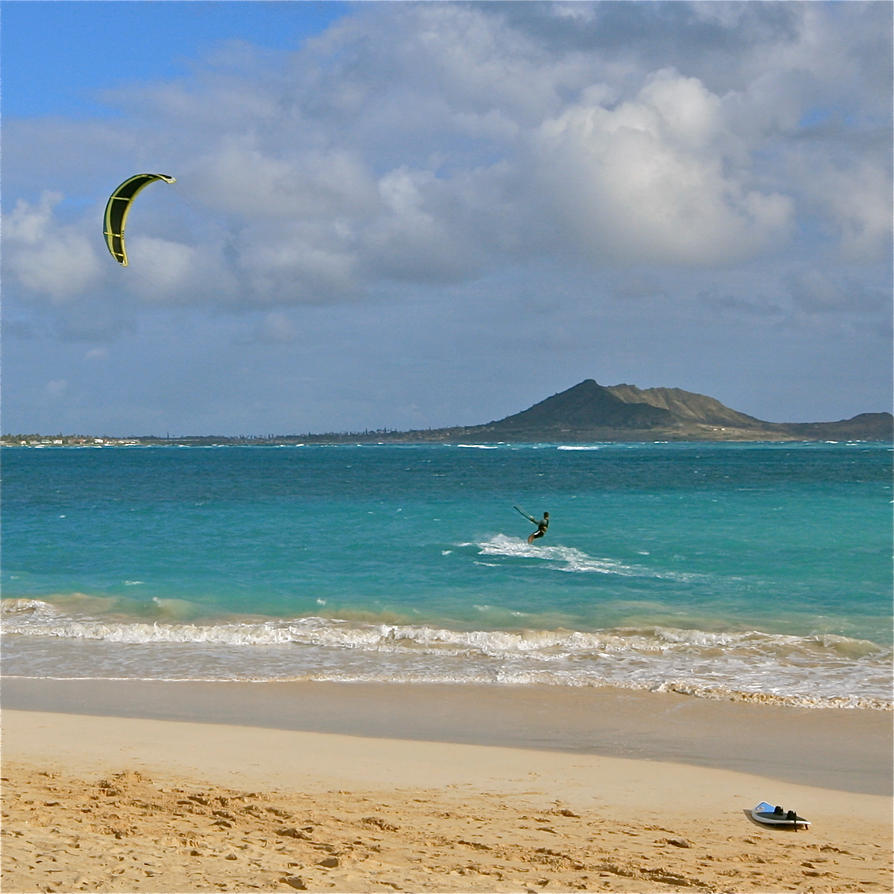 Kailua Beach And Kite Surfing By Ozone12345 On DeviantArt