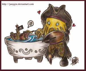 Davy Jones and the Kraken by janygin