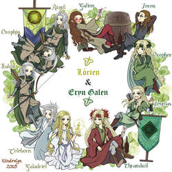 Lorien and Eryn Galen Circle by Windrelyn