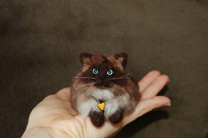 Needle Felted Cat by amber-rose-creations