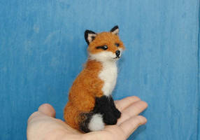 Needle Felted Red Fox by amber-rose-creations