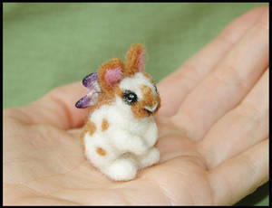 Needle felted Fairy Bunny