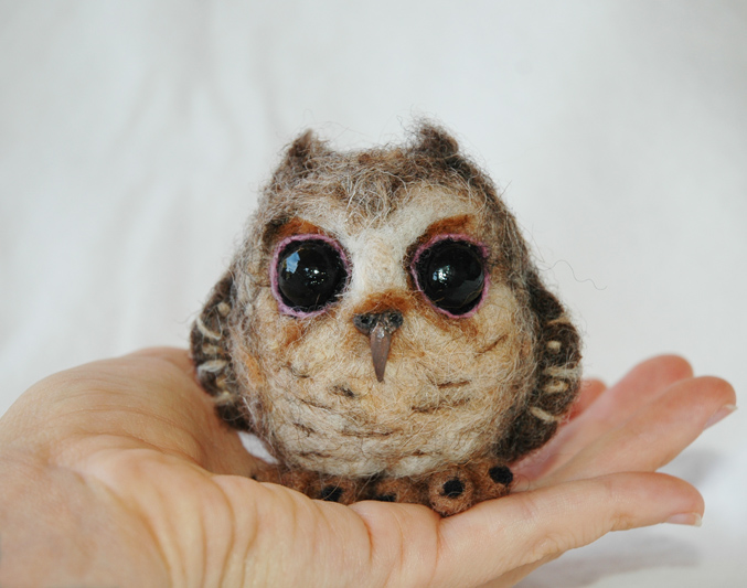 Needle Felted Baby Owl By Amber Rose Creations
