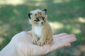 Needle Felted Lynx cub or kitten by amber-rose-creations