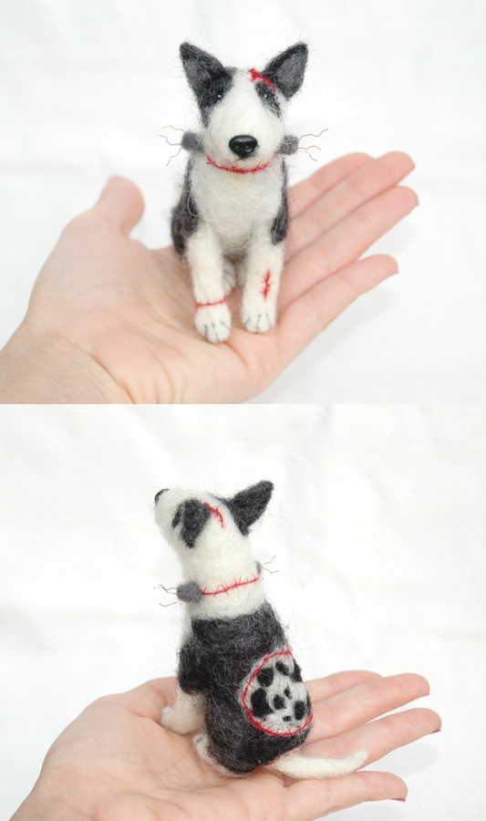 Custom Felted Original Frankenweenie by amber-rose-creations